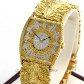 Buccellati 18K Vintage Dress Watch Fancy Leaf Bracelet