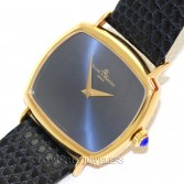Baume Mercier Vintage 18K Gold Cushion Blue Dial