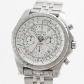 Breitling Bentley Chronograph Ref A25363 Stainless Steel White Dial
