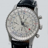 Breitling Navitimer World Chronograph A24322 Steel Silver Dial