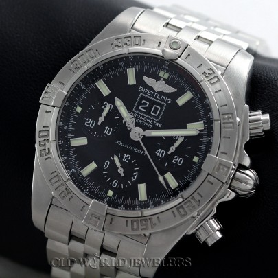 Breitling Blackbird A44539 Steel Black Dial