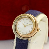 Cartier Lady's Trinity 18K Tri Color Gold Ref 2357 Diamond Dial