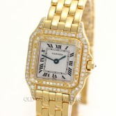 Cartier Lady's Panthere Figaro Ref 1280 18K Yellow Gold Diamonds