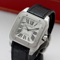 Cartier Santos 100 W20106X8 Mid Size Steel Automatic