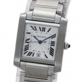 Cartier Tank Francaise W51002Q3 Mid Size Steel Automatic