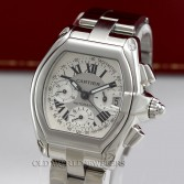 Cartier Roadster XL Automatic Chronograph 2618 Steel Silver Dial