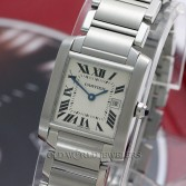 Cartier Mid Size Tank Francaise W51011Q3 Steel