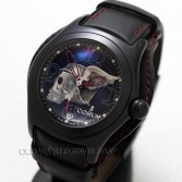 Corum Bubble Night Flyer Skull Series PVD Steel