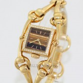 Gucci Signoria Diamond Dress Watch Series 116 Tiger Eye Dial