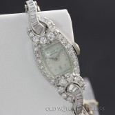 Hamilton Vintage Lady's Platinum Watch 2.50cttw Diamonds