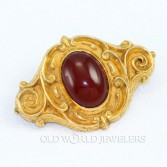 Antique English 15K Carnelian Brooch
