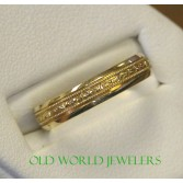14K B&N Hand Engraved Wedding Band HE803