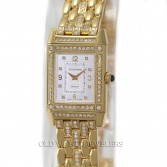 18K Gold Jaeger LeCoultre Lady Reverso 267992082F Silver Diamond Dial