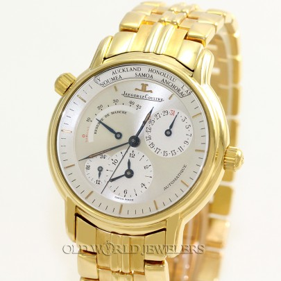 Jaeger LeCoultre Master Control Geographique Reference 169.1.92 18K Yellow Gold