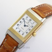Jaeger LeCoultre Lady Reverso 260.5.08 18K Gold Steel Silver Dial