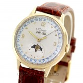 LeCoultre Vintage Triple Date Moonphase 14K Gold