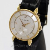 LeCoultre Vintage 1950s Dress Watch 18K Ribbon Lugs