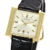 Longines Vintage Watch Ref 2620 14K Gold Square Florentine Case