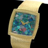 Longines Vintage Dress Watch 14K Gold Mosaic Opal Dial