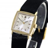 Omega Vintage Tuxedo Dress Watch Ref 6696 14K Yellow Gold