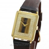 Omega Vintage Dress Watch Ref DD6882 14K Gold Tiger Eye Dial