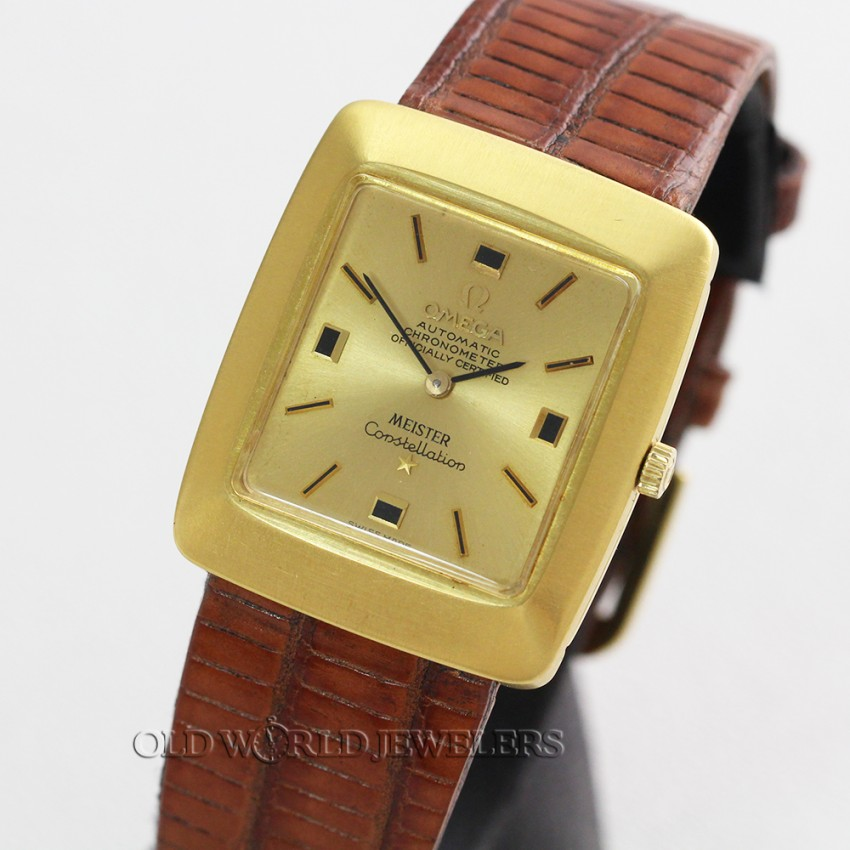 3c69493698fa9 Omega Constellation Ref 153.002 Signed Meister 18K Gold