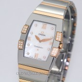 Omega Lady Constellation Quadrella 18K Rose Gold Steel MOP DIamond Dial