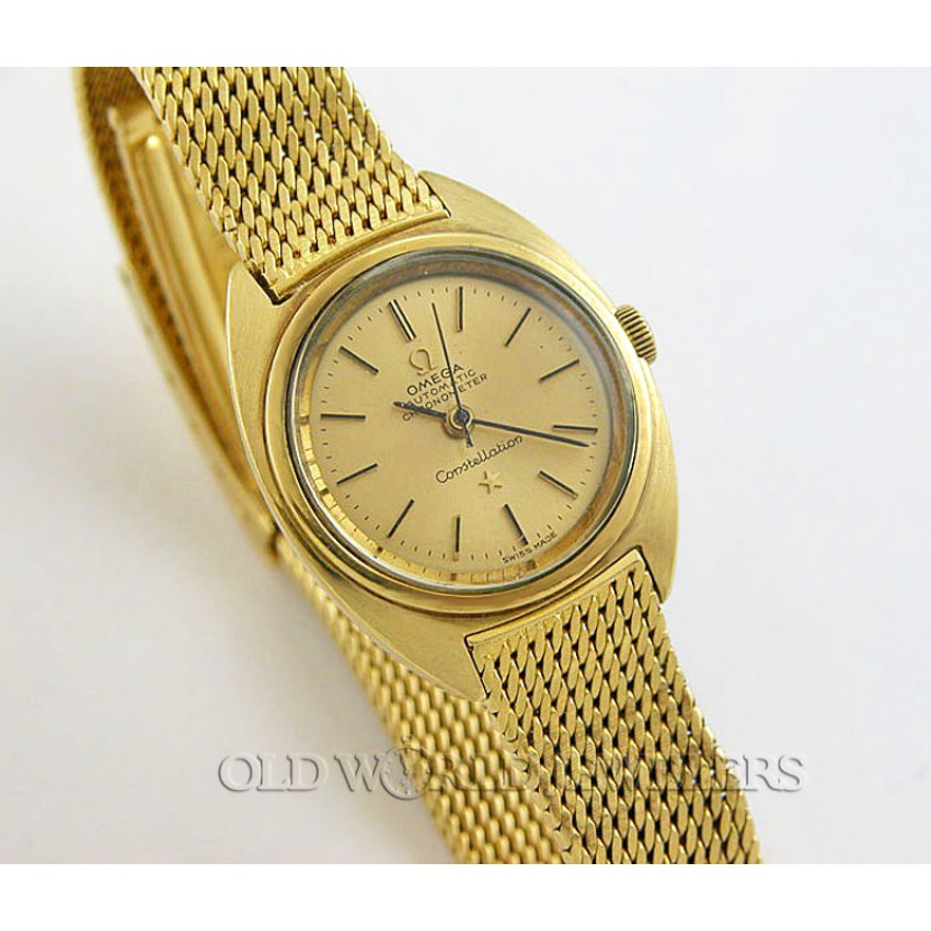 9861cd273163d Omega VIntage Lady 18K Yellow Gold Constellation