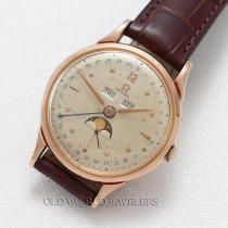 Omega Vintage Triple Date Moonphase Rose Gold Plated
