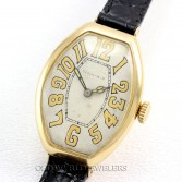 Patek Philippe 1902 18K Gold Curved Tonneau Case Tiffany & Co