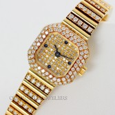 Patek Philippe Diamond Dress Watch Ref 4628/5 18K Yellow Gold