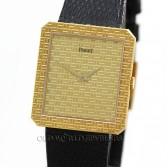 Piaget Vintage Watch Ref 91543 18K Gold Checkerboard Dial