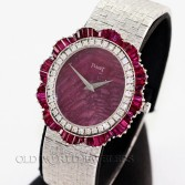 Piaget Lady Ruby Dial with Scalloped Ruby Diamond Bezel 18K WG
