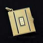 14K Antique Book Enamel Watch Fob