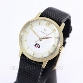 Rolex Vintage Dress Watch Diamond Alkali Logo 14K YG