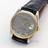 Rolex Vintage Oyster Perpetual Date Ref 1505 Steel Square Markers