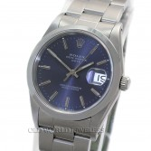 Rolex Oyster Perpetual Date Ref 15200 Steel Blue Dial