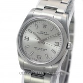 Rolex Oyster Perpetual Reference 114200 Steel Silver Dial