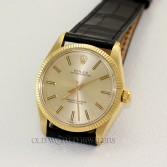 Rolex Vintage Oyster Perpetual Ref 1005 14K Yellow Gold Champagne Dial