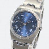 Rolex Air King 114210 Steel Blue Roman Dial