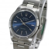 Rolex Oyster Perpetual Air King Ref 14010M Steel Blue Dial Index Bezel