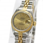Rolex Lady Datejust 69173 18K Steel Champagne Stick