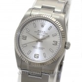 Rolex Air King Ref 114234 Steel Silver Arabic Dial