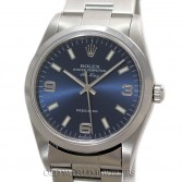 Rolex Air King 14000M Steel Blue Arabic Dial