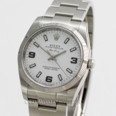 Rolex Air King 114210 Stainless Steel White Arabic Dial