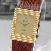Rolex Cellini Ref 4012 18K Gold Ribbed Case Circa 1976