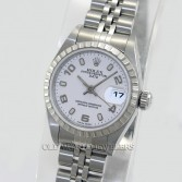 Rolex Lady Date 79240 Steel White Arabic Dial