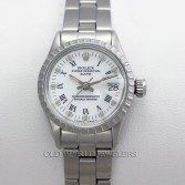 Rolex Lady Date 6517 Stainless Steel White Roman Dial