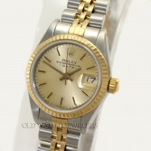 Rolex Lady Date 69173 18K Gold Steel Champagne Stick