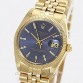 Rolex Vintage Date Ref 1503 14K Yellow Gold Blue Dial